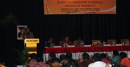 suasana Rapat Koordinasi Nasional Program Bermutu