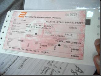 tiket kereta SRITANJUNG