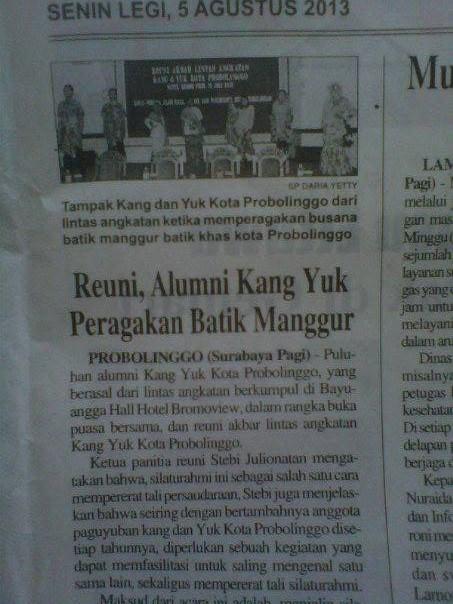 giat Reuni Akbar Kang Yuk muncul di Surabaya Pagi....