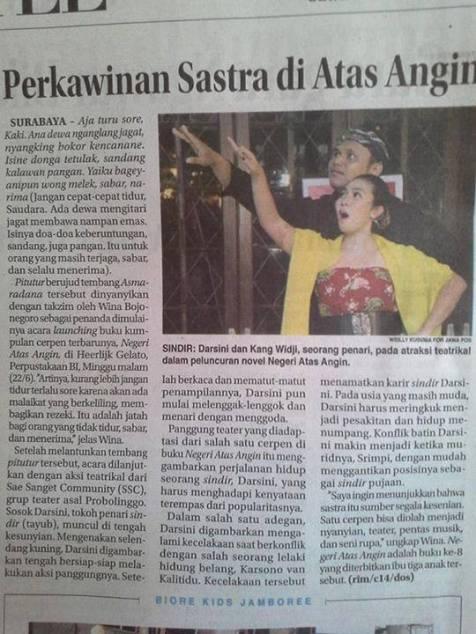 pementasan NAA - Jawa Pos 24 Juni 2014